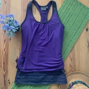Athleta purple S royal pigeon tank top